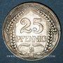 Monnaies Allemagne. 25 pfennig 1909D