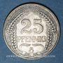 Monnaies Allemagne. 25 pfennig 1910A