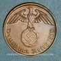 Monnaies Allemagne. 3e reich (1933-1948). 2 reichspfennig 1938 G