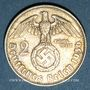 Monnaies Allemagne. 3e Reich. 2 reichsmark 1936D. Hindenbourg