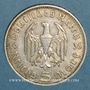 Monnaies Allemagne. 3e Reich. 5 reichsmark 1935 D Hindenbourg