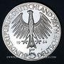 Monnaies Allemagne. 5 mark 1964J. Fichte.