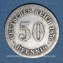 Monnaies Allemagne. 50 pfennig 1876A