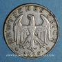 Monnaies Allemagne. République de Weimar. 1 reichsmark 1925 D
