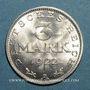 Monnaies Allemagne. République de Weimar. 3 mark 1922A