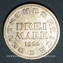 Monnaies Allemagne. République de Weimar. 3 mark 1924 D