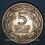 Monnaies Allemagne. République de Weimar. 5 reichsmark 1925 D. Rheinlande