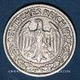 Monnaies Allemagne, République de Weimar, 50 reichspfennig 1927D