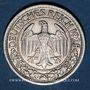 Monnaies Allemagne, République de Weimar, 50 reichspfennig 1928F