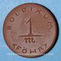 Monnaies Boldixum. Föhr. 1 mark (1920). Porcelaine