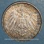Monnaies Hambourg. Ville. 3 mark 1909 J