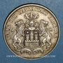 Monnaies Hambourg. Ville. 3 mark 1910J