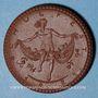 Monnaies Meissen. Höhere Mädchenschule. Médaille 1921. Porcelaine. 36,83 mm