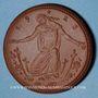 Monnaies Meissen. Krieger Gedächtnis Stätte. Médaille 1923. Porcelaine. 42,02 mm. N° 50514
