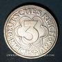 Monnaies République de Weimar. 3 reichsmark 1927A. Nordhausen