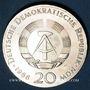 Monnaies République Démocratique allemande, 20 mark 1966, 250e anniversaire de la mort de Leibnitz