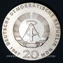 Monnaies République Démocratique allemande, 20 mark 1967, 200e anniversaire de la naissance de Humboldt