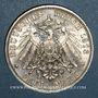 Monnaies Saxe. Frédéric Auguste III (1904-1918). 3 mark 1913 E