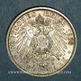 Monnaies Saxe-Weimar-Eisenach. Guillaume Ernest (1901-18). 2 mark 1903A