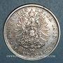 Monnaies Wurtemberg. Charles I (1864-1891). 5 mark 1876F
