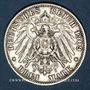 Monnaies Wurtemberg. Guillaume II (1891-1918). 3 mark 1909F