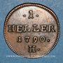 Monnaies Allemagne. Possessions autrichiennes. Joseph II (1780-1790). 1 heller 1790 H. Hall