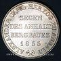 Monnaies Anhalt-Bernbourg. Alexandre Charles (1834-1863). Taler des mines 1855A