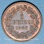 Monnaies Bade. Frédéric I, grand duc (1856-1907). 1/2 kreuzer 1866
