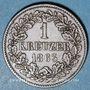 Monnaies Bade. Frédéric I, grand duc (1856-1907). 1 kreuzer 1863