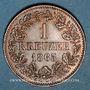 Monnaies Bade. Frédéric I, grand duc (1856-1907). 1 kreuzer 1865