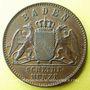 Monnaies Bade. Frédéric I, grand duc (1856-1907). 1 kreuzer 1866