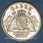 Monnaies Bade. Frédéric I, grand duc (1856-1907). 3 kreuzer 1868