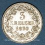 Monnaies Bade. Frédéric I, grand duc (1856-1907). 3 kreuzer 1870