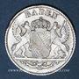 Monnaies Bade. Léopold (1830-1852). 6 kreuzer 1841