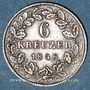 Monnaies Bade. Léopold (1830-1852). 6 kreuzer 1846