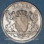 Monnaies Bade. V (1830-1852). 3 kreuzer 1845