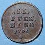 Monnaies Bavière. Charles Théodore (1777-1799). 2 pfennig 1796