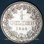 Monnaies Bavière. Louis I (1825-48). 1/2 gulden 1842