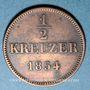 Monnaies Bavière. Maximilien II Joseph (1848-1864). 1/2 kreuzer 1854