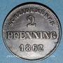 Monnaies Bavière. Maximilien II Joseph (1848-64). 2 pfennig 1862