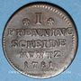 Monnaies Brunswick-Calenberg-Hanovre. Georges III (1760-1814). 1 pfennig 1781CES