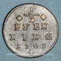 Monnaies Evêché de Wurzbourg. Adam Frédéric de Seinsheim (1755-1779). 1/2 pfennig 1763