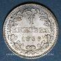 Monnaies Francfort. Ville. 1 kreuzer 1866