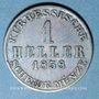 Monnaies Hesse. Frédéric Guillaume (1847-1866). 1 heller 1858