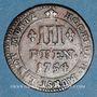 Monnaies Münster. Evêché. Clément Auguste de Bavière (1719-1761). 3 pfennig 1754