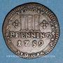 Monnaies Munster. Monnayage de la Cathédrale. 3 pfennig 1759