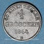Monnaies Oldenbourg. Nicolas Frédéric Pierre (1853-1900). 1/2 groschen 1864B