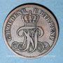 Monnaies Oldenbourg. Nicolas Frédéric Pierre (1853-1900). 2 pfennig 1858 B