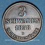 Monnaies Oldenbourg. Nicolas Frédéric Pierre (1853-1900). 3 schwaren 1858 B