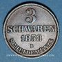 Monnaies Oldenbourg. Nicolas Frédéric Pierre (1853-1900). 3 schwaren 1858B